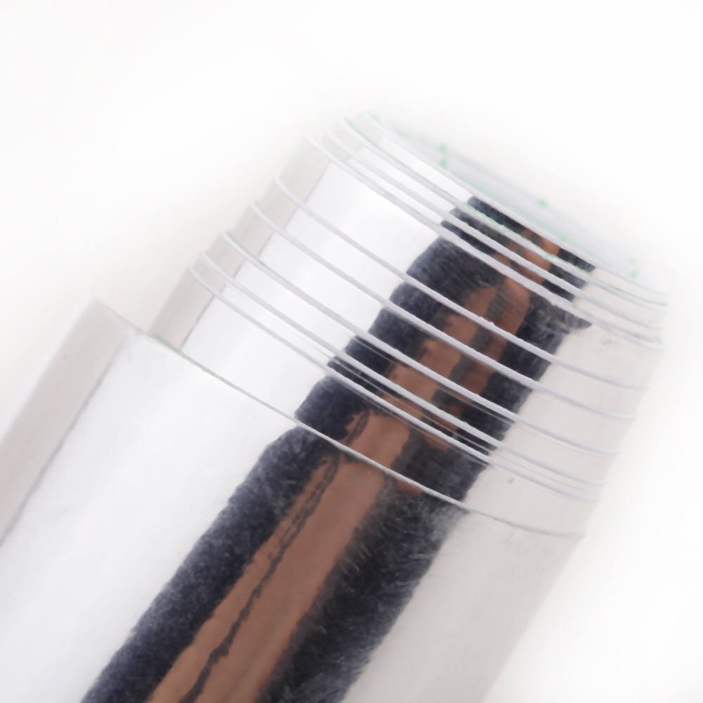Estilo do carro Espelho de Cromo de Prata Vinil Adesivo Decalque Folha de Filme Auto-adesivo Bolha de Ar Decoração Livre 12 Polegadas * 60 Polegadas