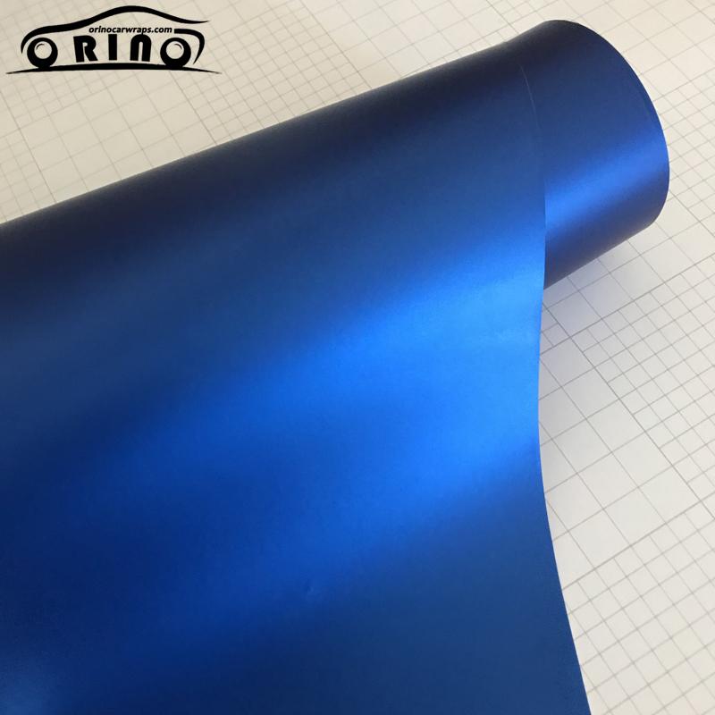 Blue Metallic Chrome Vinyl Wrap Film-1