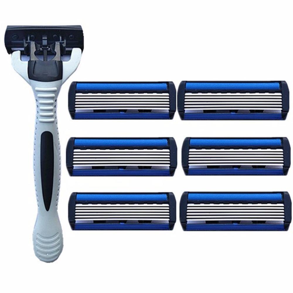 oral-q cabezales de afeitado de repuesto para afeitadora Philips HQ6940 doble hoja Jefes con cepillo de limpieza 1 pieza