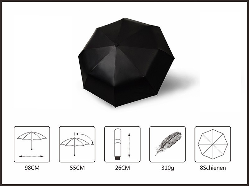 Fashion Black Stars Women Umbrella Three Fold Wind Resistant Anti UV Sun Umbrella Sunny And Rainy Dual-use Male Parasol7