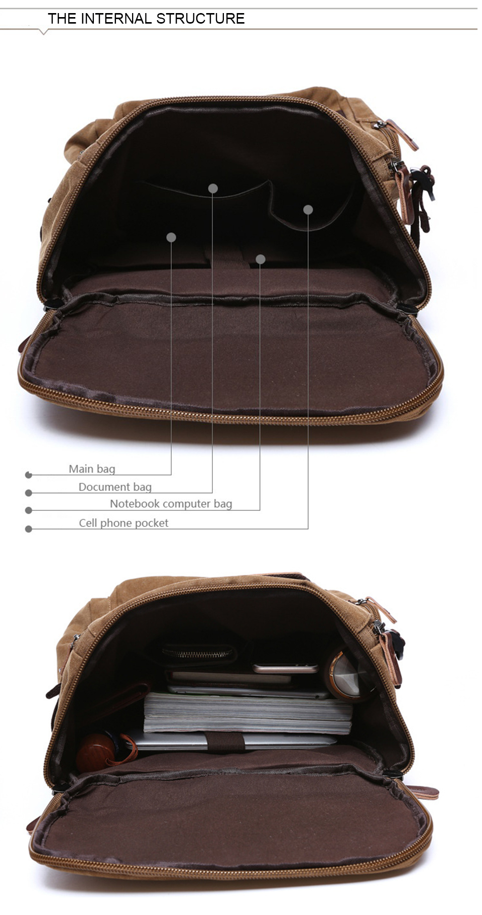 10 Canvas Backpack 15.6