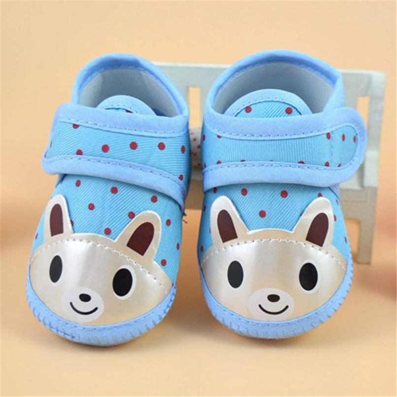 Newborn Girl Boy First Walker Soft Sole Crib Toddler Shoes Canvas Sneaker NDA84L16 (2)