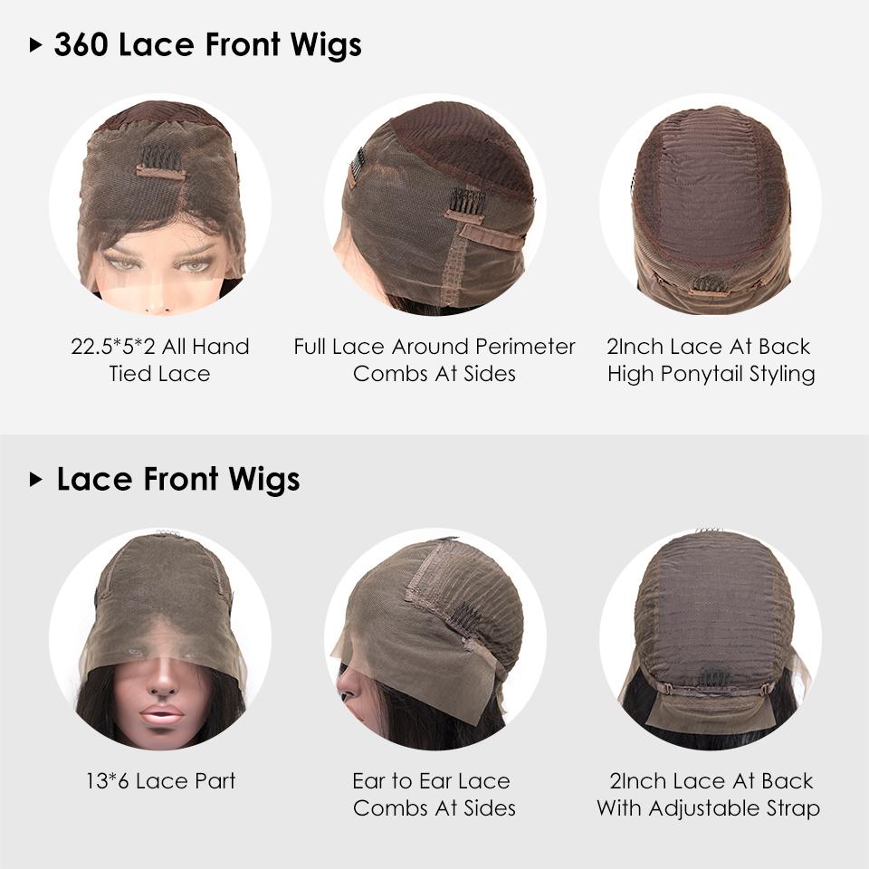 Объемная волна малазийский Дева человеческих волосы фронт шнурок 150% Плотность 360 Парик фронта шнурка Remy волос Бесплатной доставка