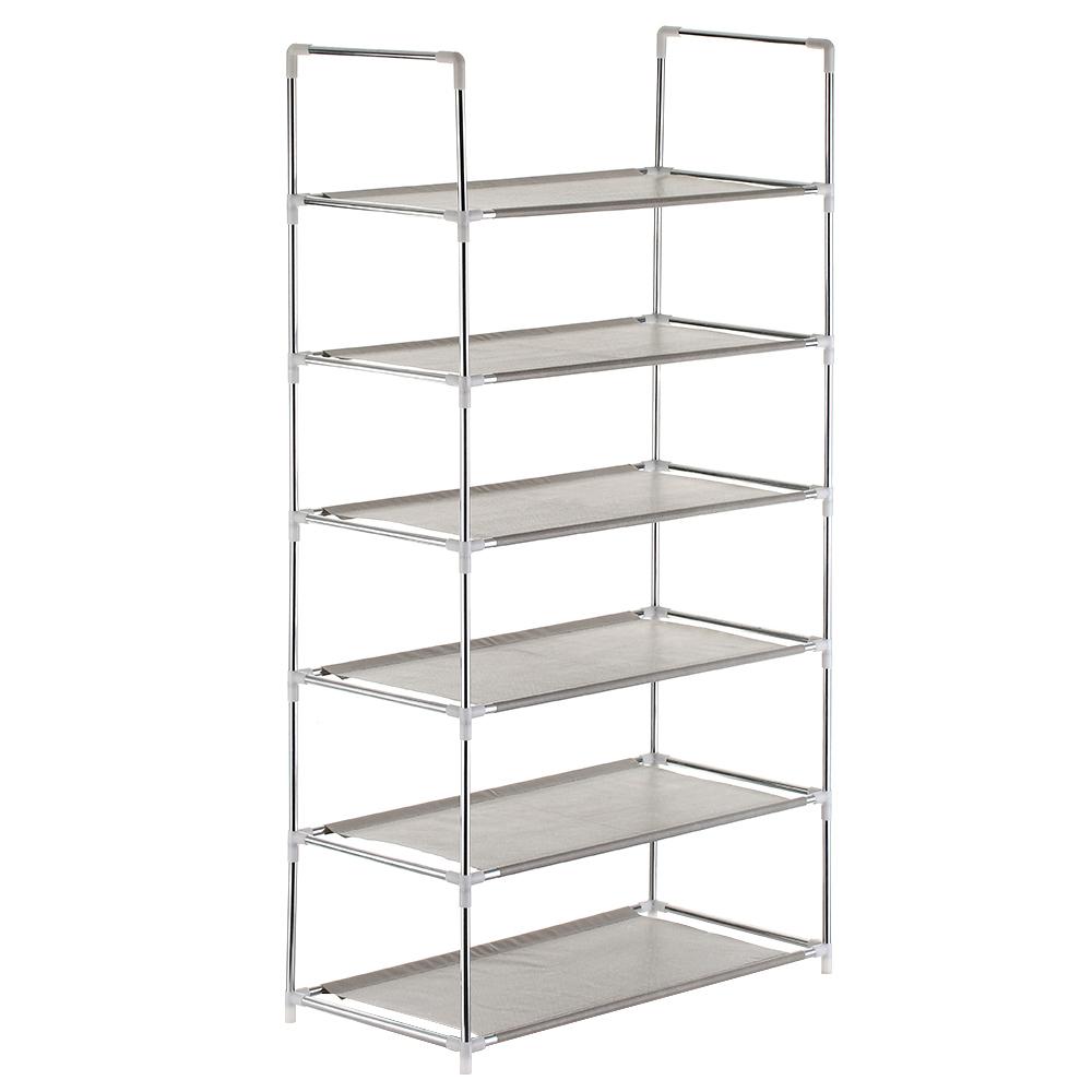 Multifunctional 4/5/6-tier Racks Cabinet Large Stackable Shelves Holds Shelf For Shoe Book Home Storage Organizer Q190610
