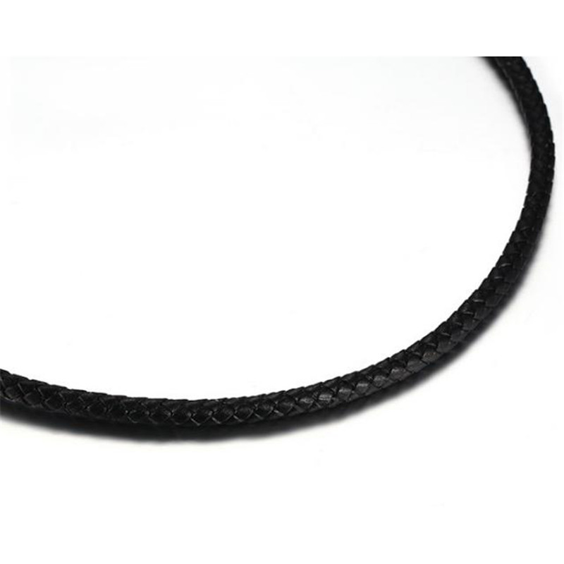 5mm PU leather choker necklace women and men stainless steel magnetic button Woven leather rope necklace 3 sizes optional gift