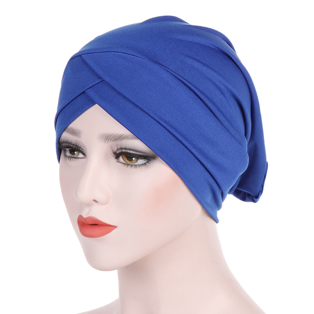 Muslim Women Pearl Drill Hat Bonnet Wrap Hijab Turban Cap Beanie Head Scarf Hats