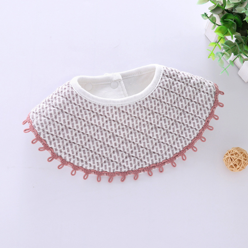 100% Cotton Waterproof Baby Bibs Fashion Round Neck Baby Girls Bibs 360 Degree Flower Star Bib For Girls Baby Girls Clothing (11)