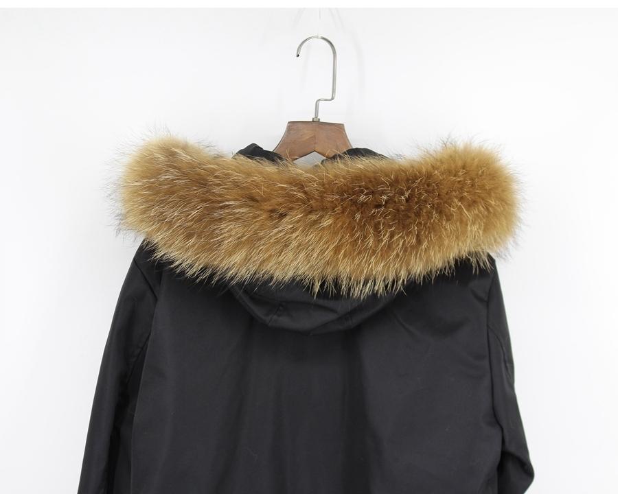 genuine raccoon fur hoody trim collar (7)