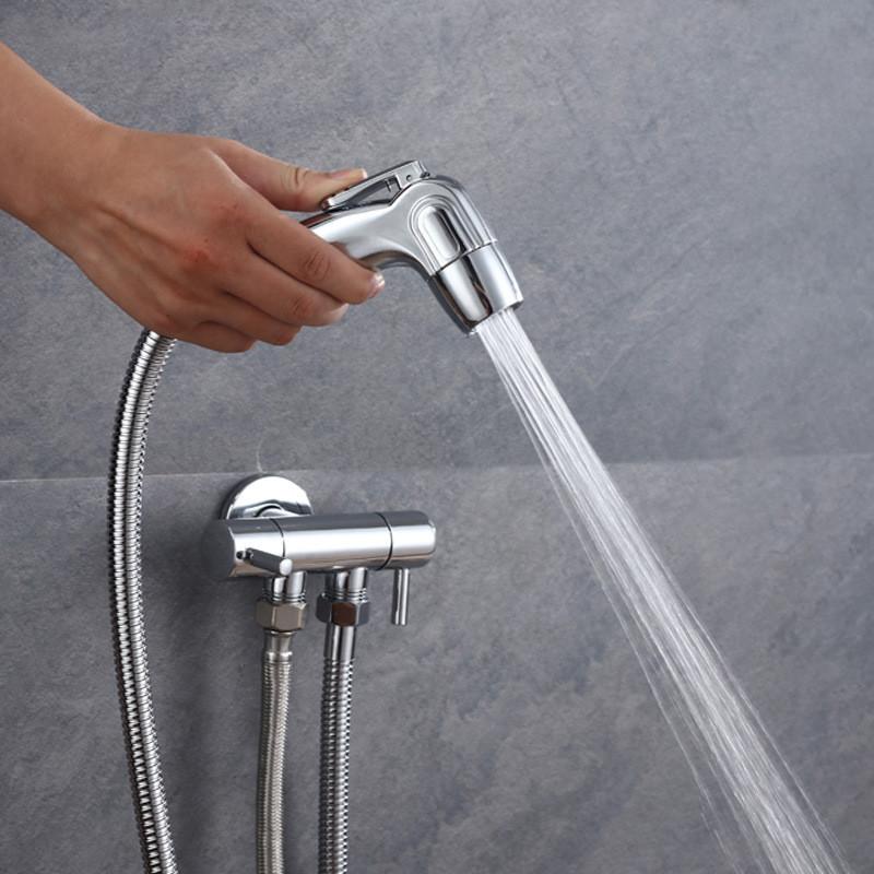 cabezal de ducha Pulverizador de bid/é de acero inoxidable ahorro de agua cabezal pulverizador para cabezal de ducha Plateado Frap Hand boquilla de pulverizaci/ón para inodoro