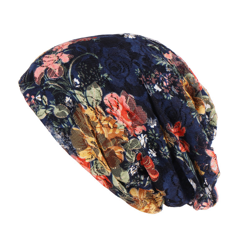 Nation Wind Set Head Cap Ma'am Flower Package Head Cap Spring Summer Lace Hats Nation Hat Woman Confinement Hat