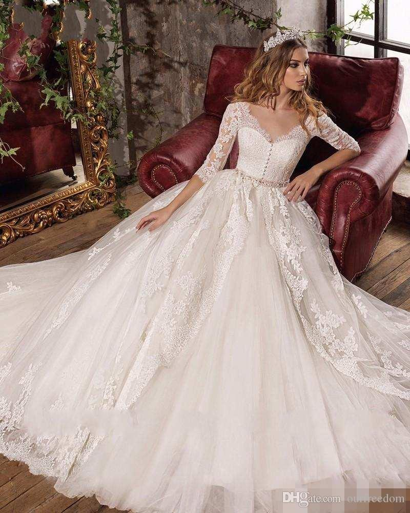 Wholesale Best Ribbon Embroidery Designs Wedding Dresses For Single S Day Sales 2020 From Dhgate,Soft Pink Wedding Dresses