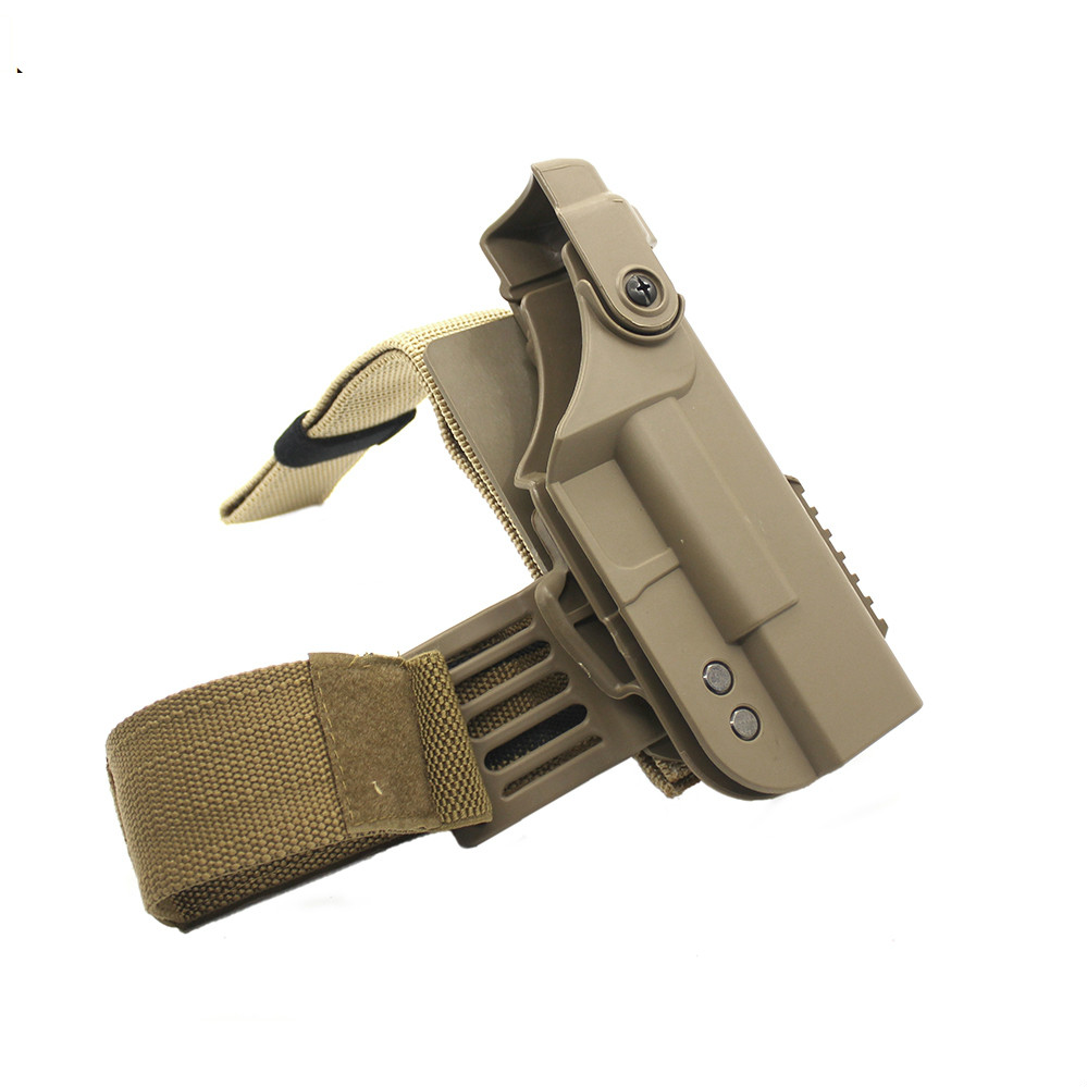 Hunting High quality Tactical nylon holster Right Drop Leg Thigh Lock Holsters for G17 G18 G19 G22, G17/18/19/22
