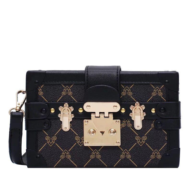 Wholesale women bag classic clutch bag Box handbags Evening Bags lady purse Leather Fashion Box Clutch box messenger Shoulder Bag women tote