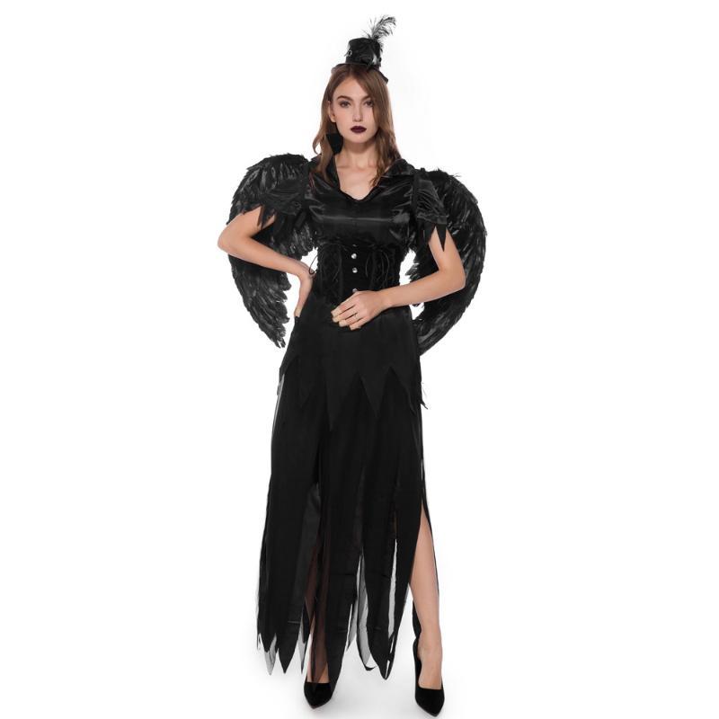 Chaussures Femme ailes de chauve-souris Cape Costume Femme Halloween Fancy Dress Party Wear Tenues
