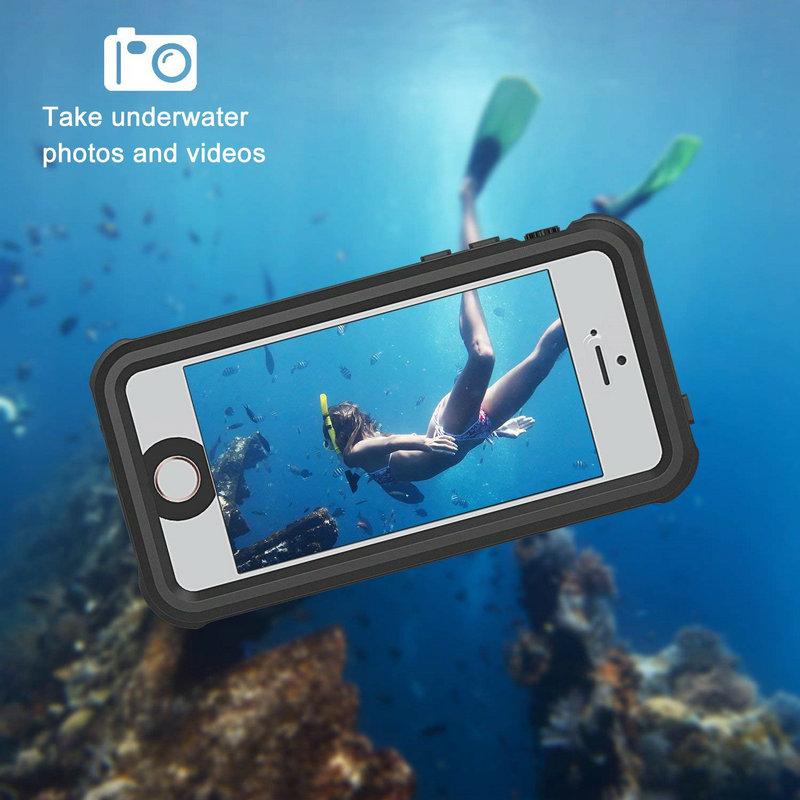 Redpepper Sealed Waterproof Case For iPhone 5 5S SE Shockproof case (18)