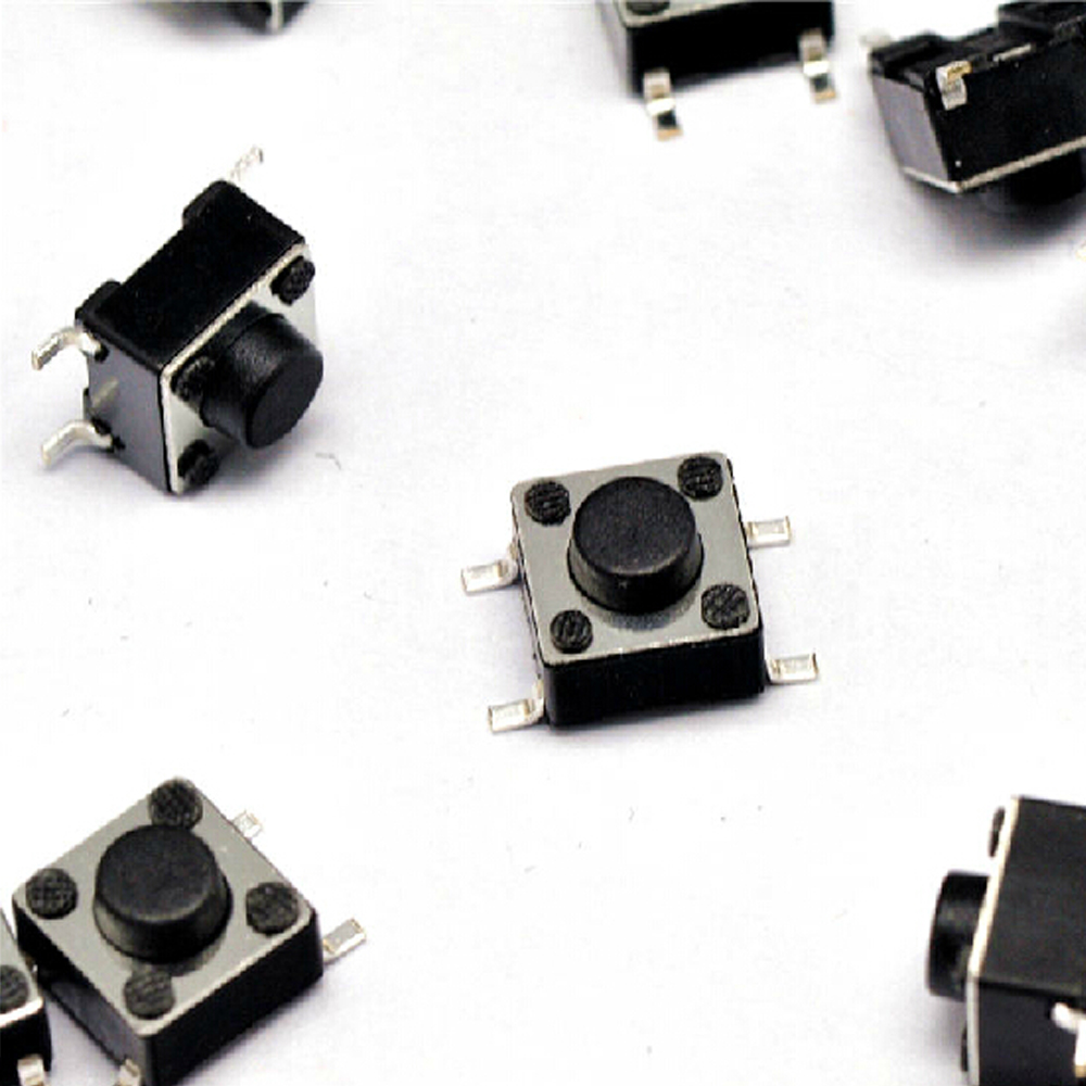 100Pcs 6x6x5mm 4 Pins SMD SMT Momentary Push Button Tact Tactile Switches UK