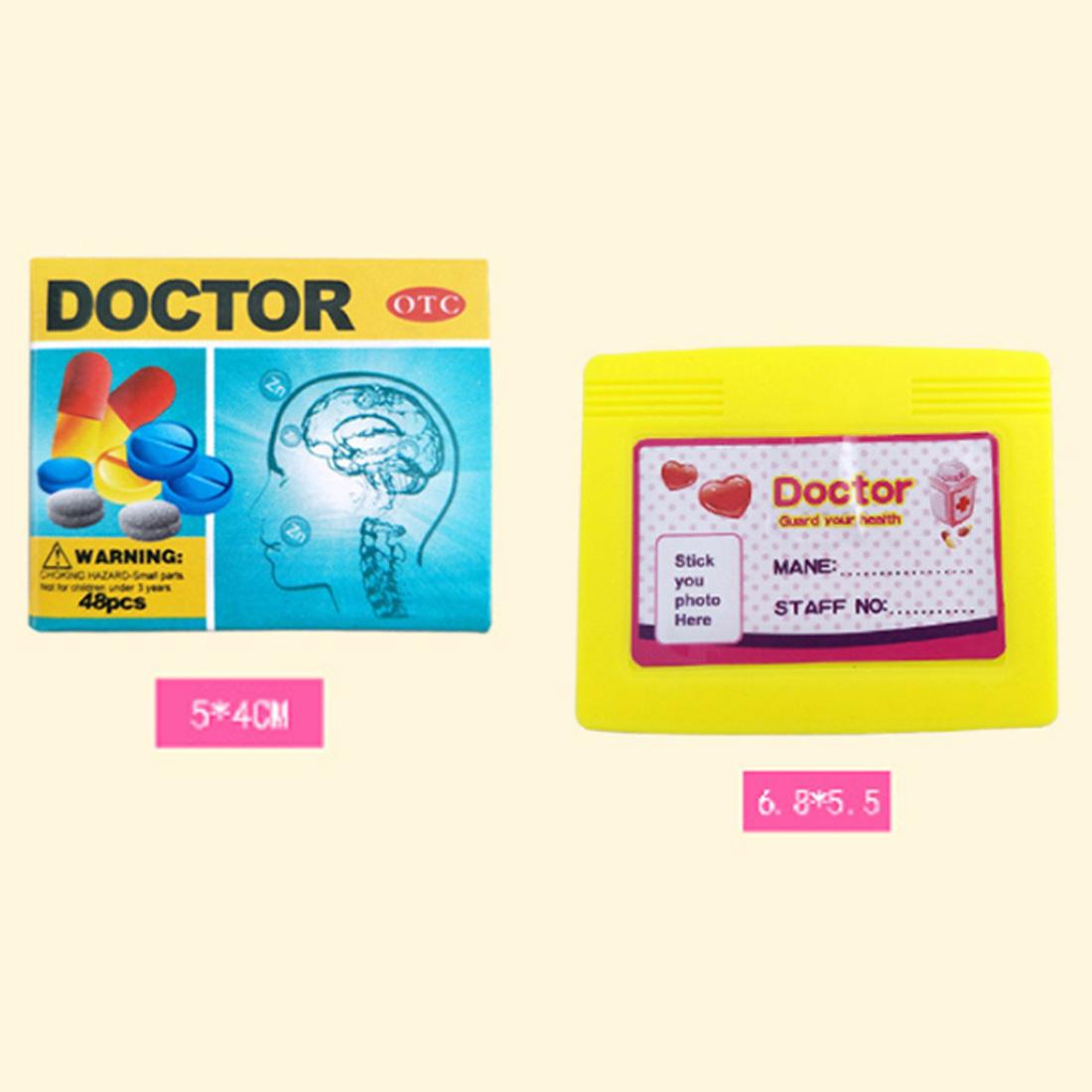 Enfants Pretend Play Emulational Doctor Jouets Ensemble Pour Les Enfants Role Play Kit Médical Portable Trolley Cas L'éducation Jouets pour Fille