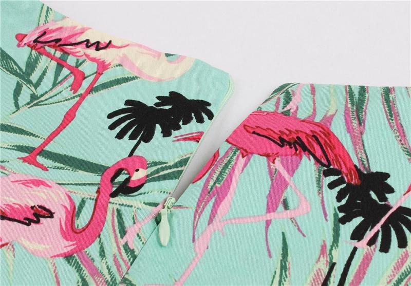 Kostlish 9 Style Print Summer Dress Women 2017 Sleeveless Swing 1950s Hepburn Vintage Tunic Dress Elegant Party Dresses Sundress (64)