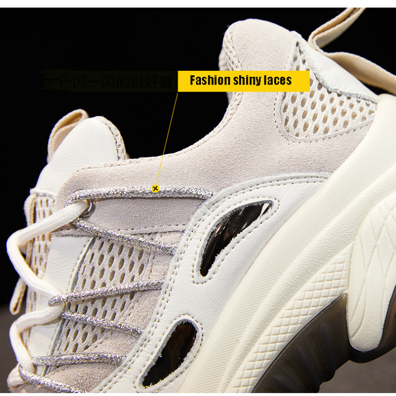 Platform Sneakers Thick Bottom Height Increasing 5CM Chunky Shoes Chaussure Swing Slimming Shoes