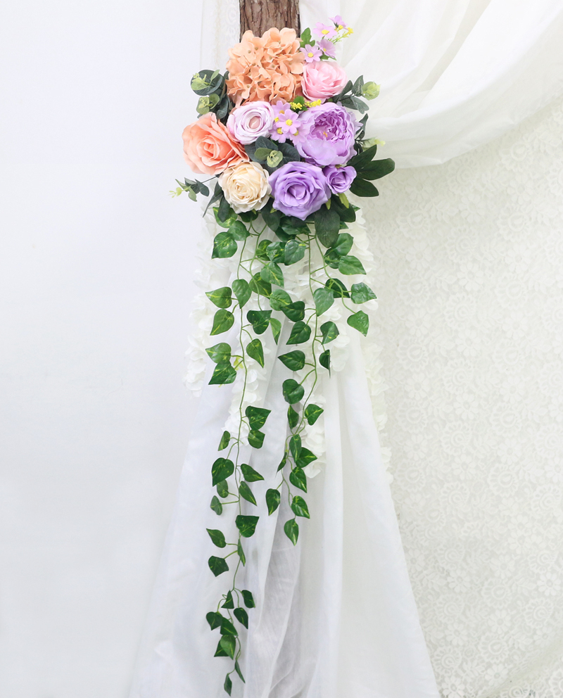 JAROWN Artificial Rose Flower Row Small Corner Flowers Simulation Silk Fake Flowers Wedding Decor Home Garland Decor Flores (7)