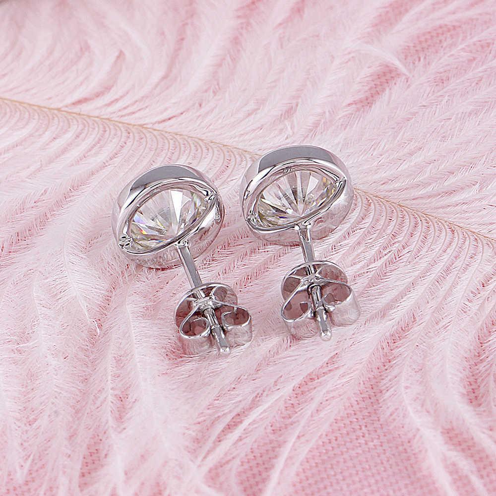 bezel moissanite earrings (4)