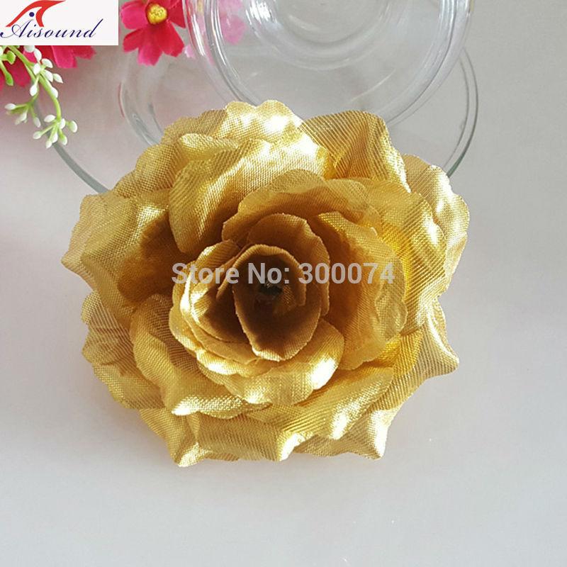 Golden flower head for a wedding