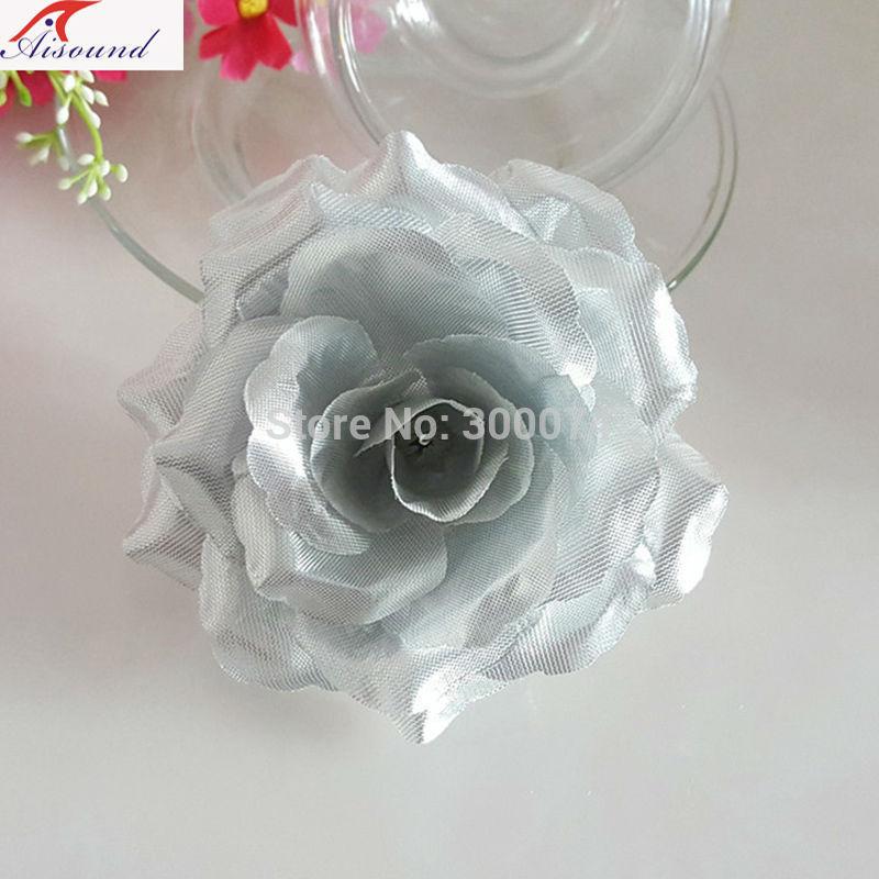 Silver flower head for wedding