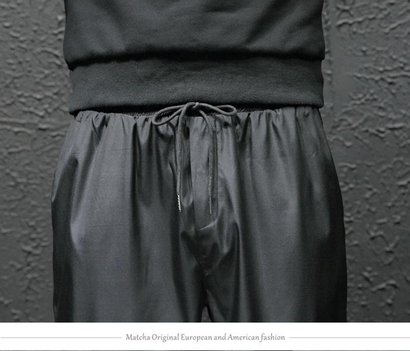 Loose Hip Hop Cargo Pants Men Camouflage Patchwork Harem Mens Trousers Streetwear (23)