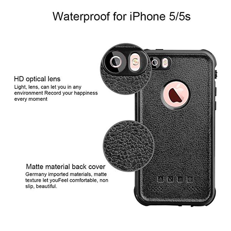 Redpepper Sealed Waterproof Case For iPhone 5 5S SE Shockproof case (6)