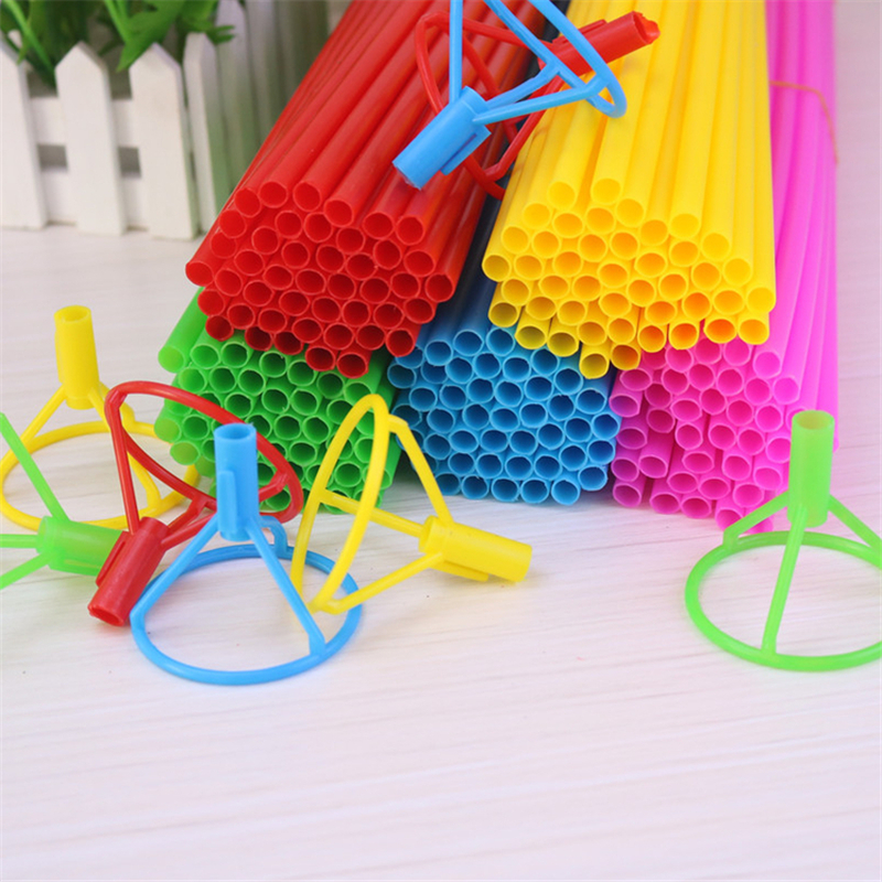 40cm Foil Balloon Stick Colorful Pvc Rods Supplies Balloons Holder Sticks With Cup Party Decoration Balloon Accessories Y19061704