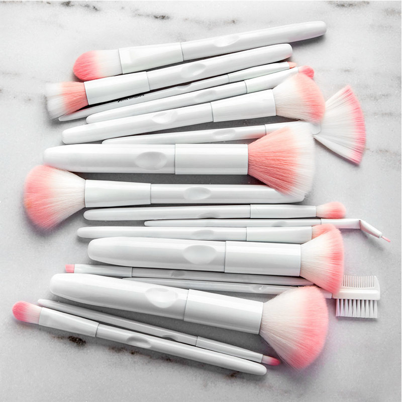 17pcs white makeup brushes (5)