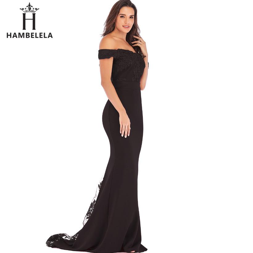 HAMBELELA Vestido De Festa Pink Black Red Mermaid Dress Lace Top Bodice Slim Long Formal Party Dress Charming Wedding Party Gown (6)