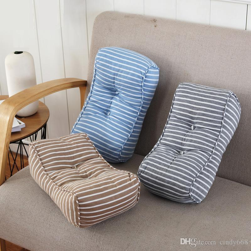 40cm Square Striped Buttocks Waist Support Pad Mat Seat Chair Back Cushion