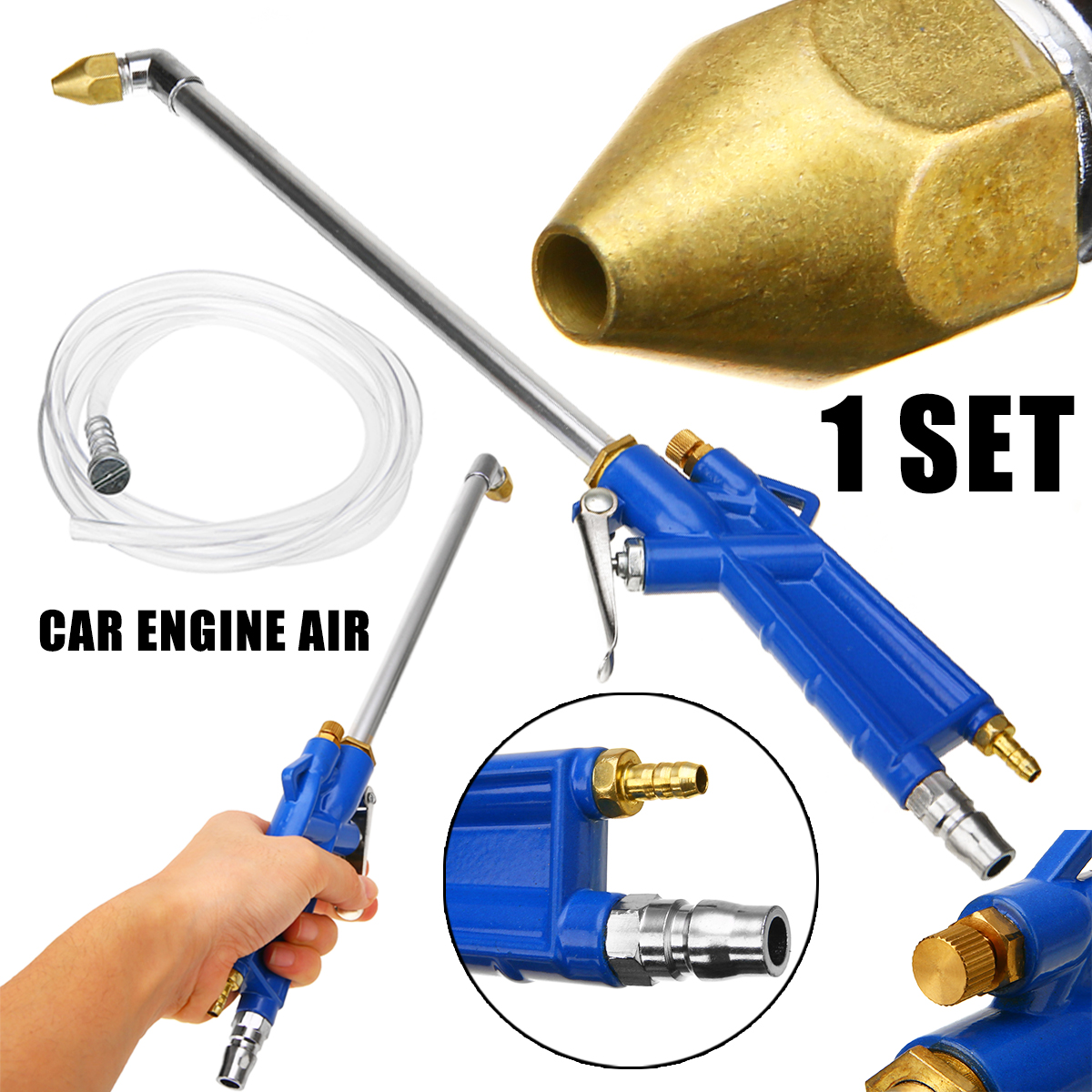 MAYITR Multifunctional Air Pressure Washing Spray Dust Oil Cleaner + 300mm Blowing Dust Pipe Kits for Car Engine Home Warehouse