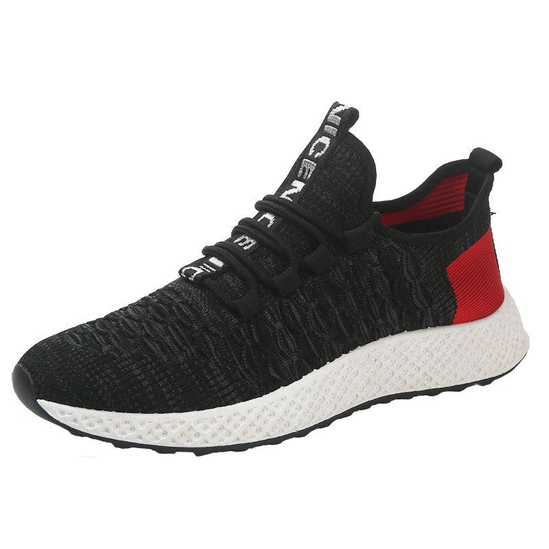 running shoes for men Triple Black White Red chaussures hommes Breathable mens trainers Athletic Sport Sneakers zapatos 39-44 Style 4