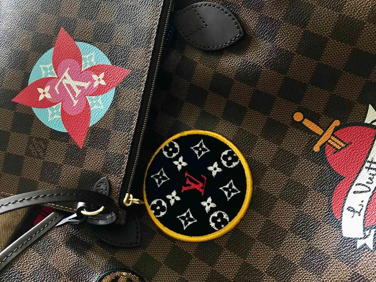 neverfull18 years badge new checkerboard