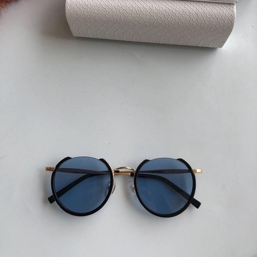 La nueva ronda de moda las gafas de sol sin montura semi Hombres Mujeres marca con el medio marco Gafas de sol Gafas de Sol Classic UV400
