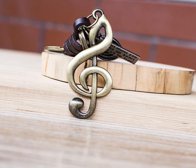 Símbolo de música Chave Link Designer de Presentes de Aniversário Chaveiro Moda Criativo Chave Anel de Designer de Carro Chaveiros Acessórios Presentes dos Namorados