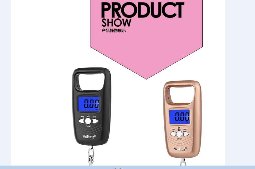 Portable Mini Hand Held digital Hanging Scale for suitcase Travel bag Electronic Weighting Luggage Scale fish Hook Balance