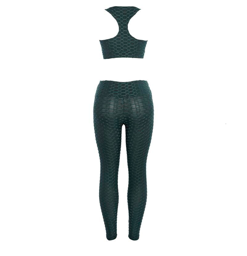 Womens Solid Sexy Thin Slim Athleisure Fitness Sets Thin Slim Sexy Tracksuits High Waist Workout Ioga Elastic (12)