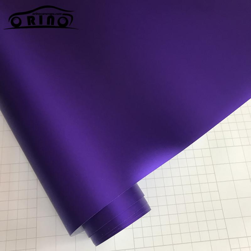 Purple Matte Metallic Chrome Vinyl Film Wrap-4