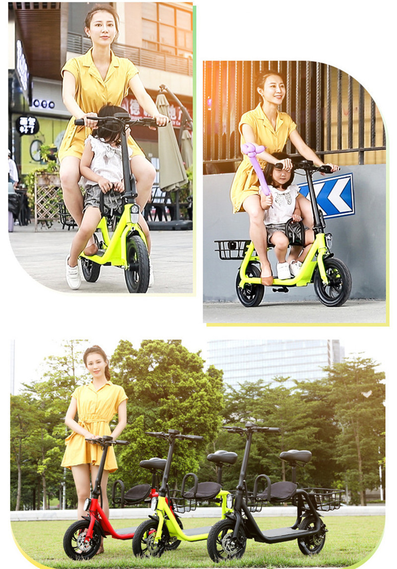 Daibot Electric Scooter For Kids Two Wheel Electric Scooters 12 inch Brushless Motor 350W 36V Portable Adult Electric Bike (1)