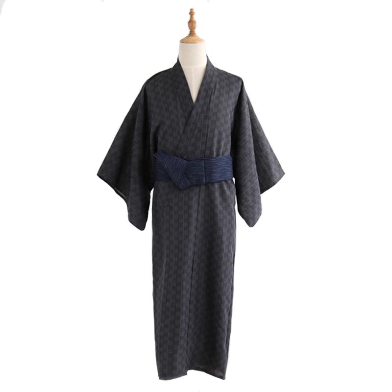 Men/'s Kimono Robe Yukata Samurai Clothing Suits Karate Cosplay Costume Japanese