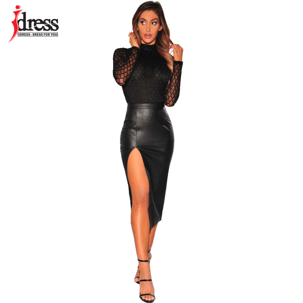 IDress 2017 New Summer Women Black Bodycon Jumpsuit Halter Sheer Mesh Bandage Bodysuit Sexy Club Jumpsuits and Rompers Sexy Body (8)
