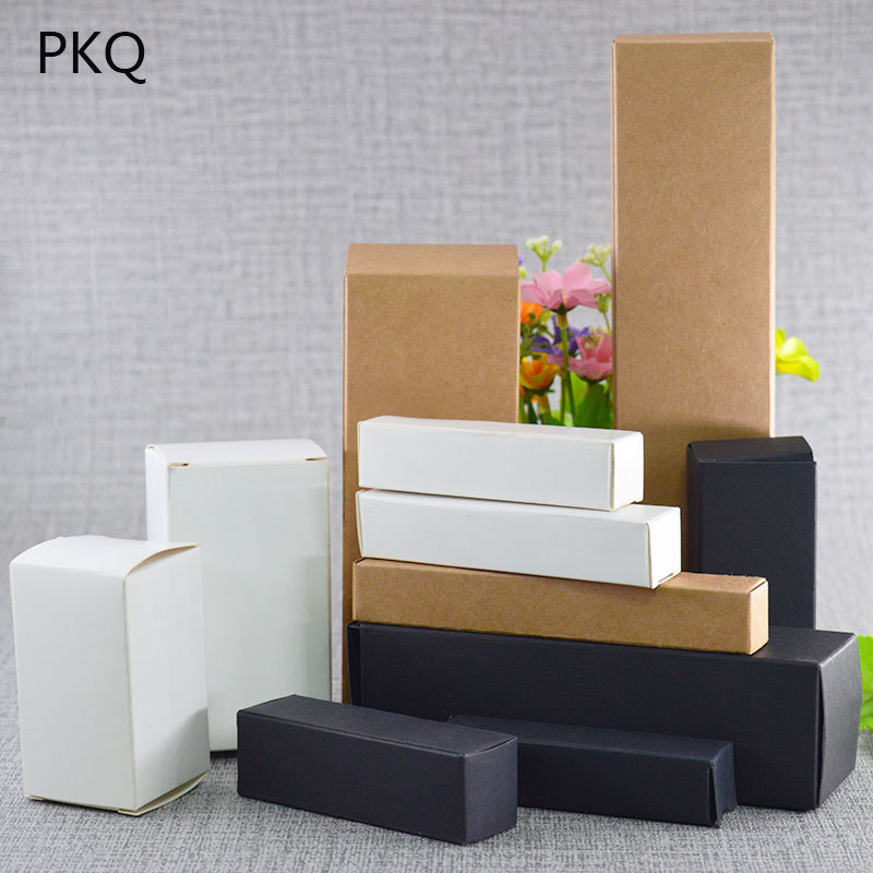 13 Sizes Kraft Paper Cardboard Box For Jewelry Gift Candy Packaging Carton Box Gift Soap Package Packing Paper Box White Y19070103