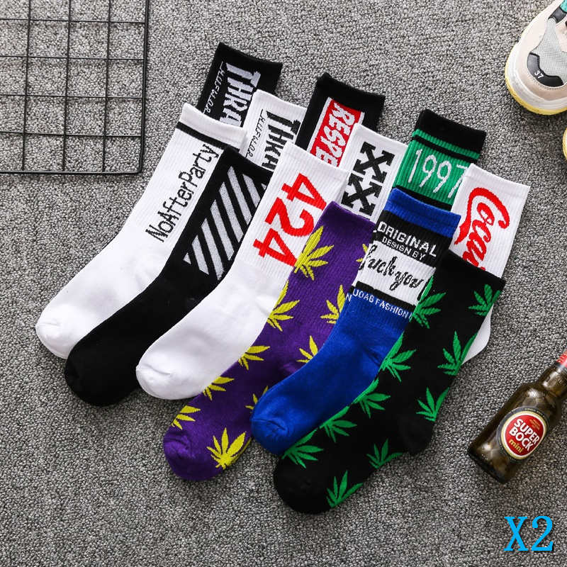 Fashion Men Cotton Socks Colorful Striped Ankle High Winter Casual Elastic Sock