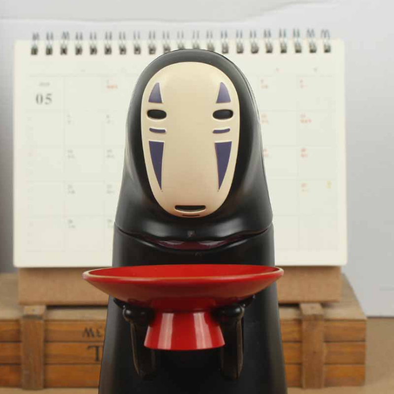 Electronic Faceless Man Ghost Figure Cartoon No-face Piggy Bank Saving Box Coin Musical Safe Money Child Funny Gift Q190606