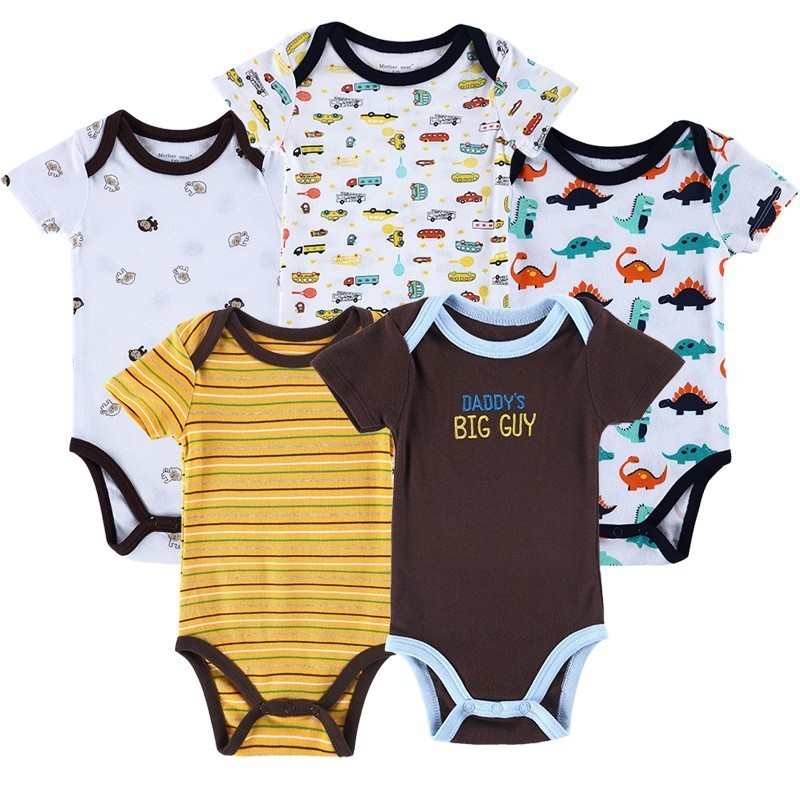 Luvable Friends 5 Pieceslot Baby Body Roupa Infantil Infant Clothing Lovely Bird Bodysuit Pattern New Born Baby Clothing (6)