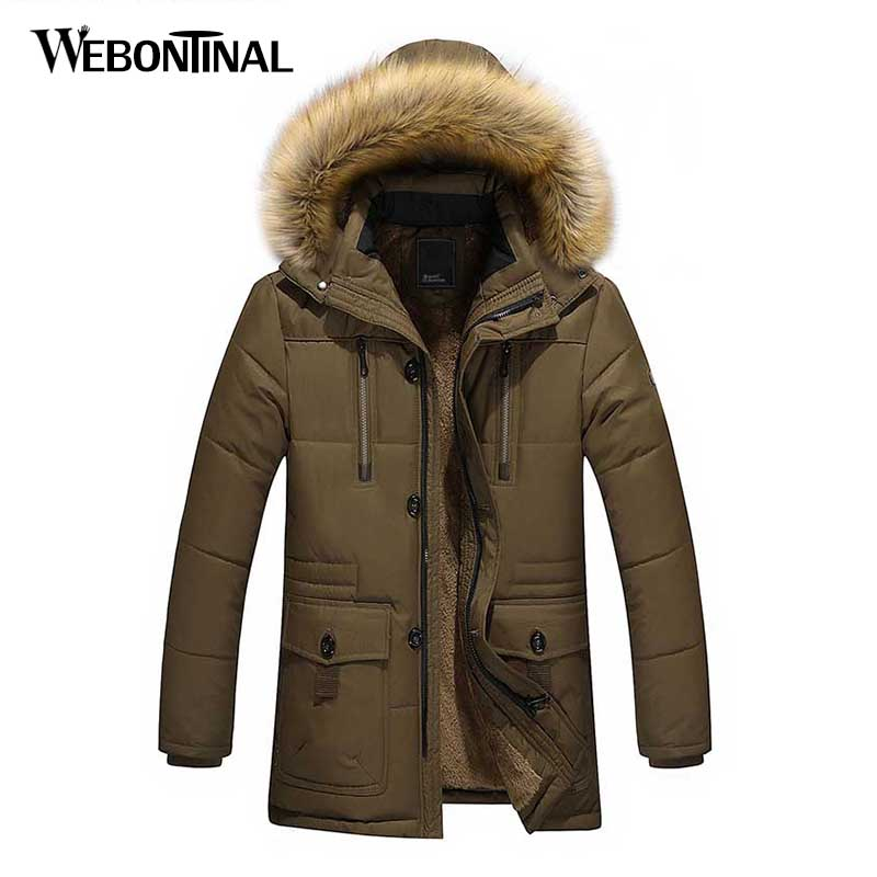 BYWX Men Faux Fur Collar Hooded Thick Anorak Parka Quilted Down Jacket