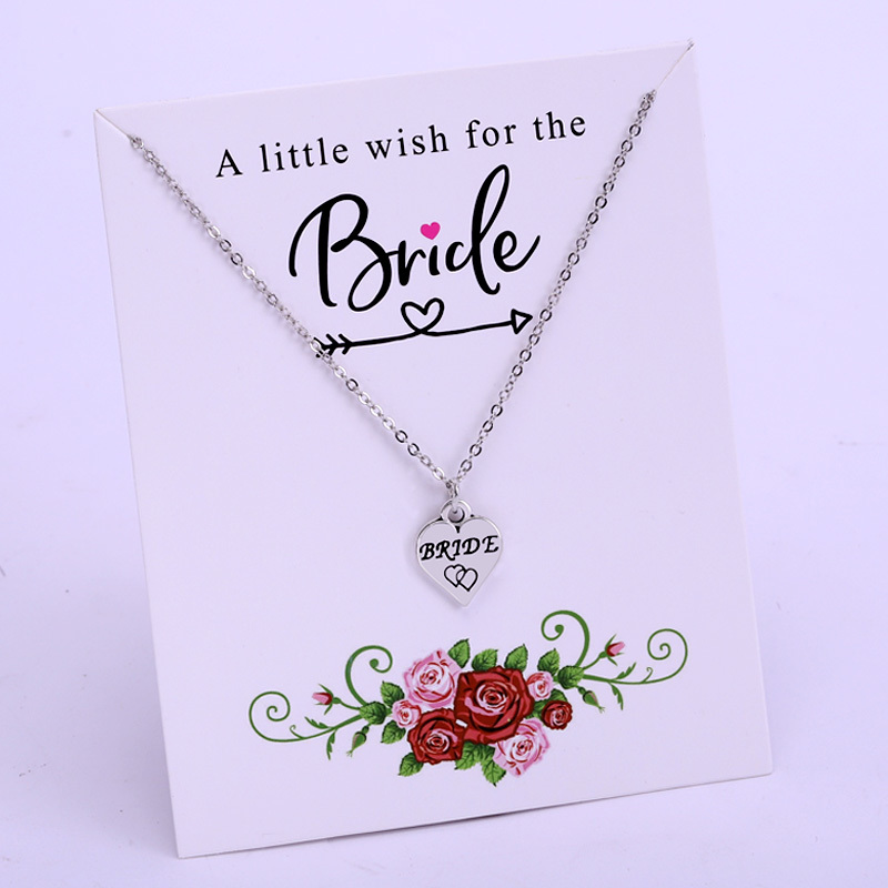Bridesmaid Gift Card Jewellery Necklace Choker Minimalist Pendant Maid of Honour